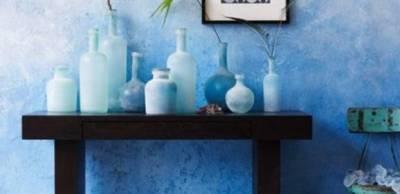 Эффект омбре в интерьере: стены, мебель и шторы